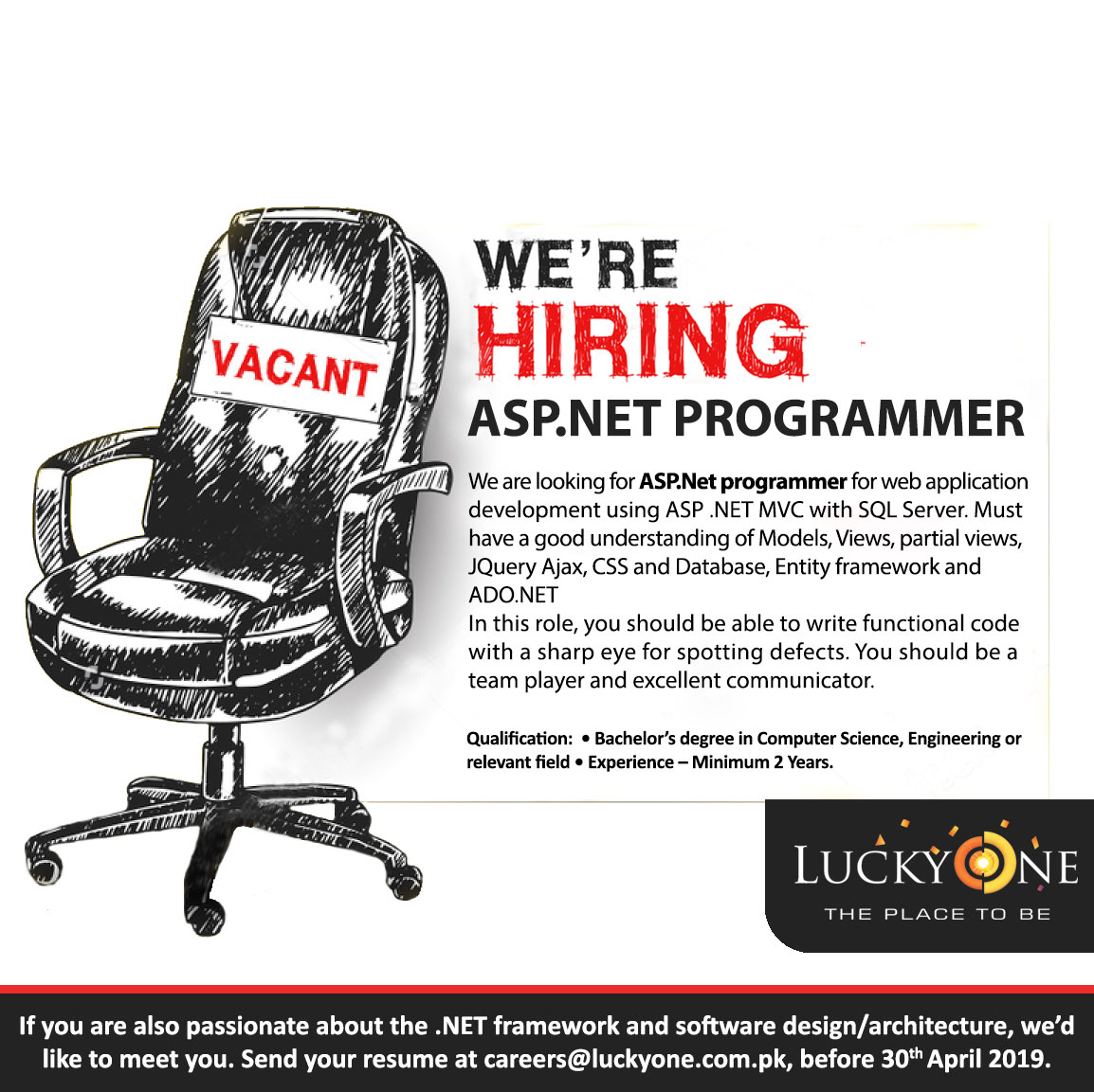 CAREERS – Lucky One (Pvt) Ltd